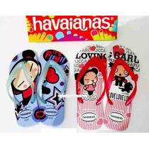 Chinelo/sandália/rasteirinha Havaianas Da Pucca Original!
