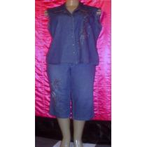 Conjunto Feminino Jeans Molinho Tam. 46 S/ Strech A-1