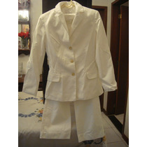 Tessuti Terno Terninho Tam. 38 Branco Calça Social Blazer