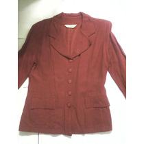 Blazer Feminino Vermelho N°42 Oferta
