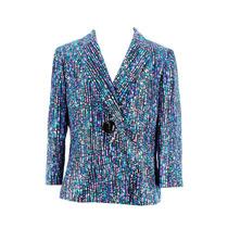 Le Suit Blazer Das Mulheres Roxas Poliéster Tamanho 12 Peti