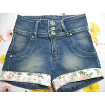 Shorts Jeans Curto Tam P Barra Florida