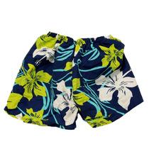 Bermuda Art Intima Shorts Tam M Que Vira Bolsa Azul Floral