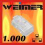 Kit 1000 Conector Rj45 Cabo Rede Lan Plug Ethernet Rj-45