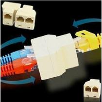 10 Peças Duplicador Rj45 Rede Lan Pc Modem Adaptador Emenda