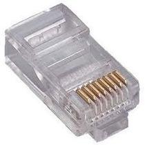 Pacote 100 Conector Rj45 P/ Rede Lan Plug Rj 45