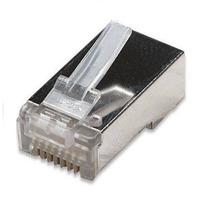 Conector Blindado Rj45 8 Vias Cat 5e Pacote Com 10 Peças