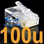 Conector Rj45 Cabo Rede Cat 5e Kit 100 Unidades Rj 45 Lan