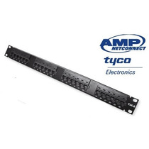 Patch Panel Amp / Tyco 24 Portas Cat6
