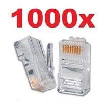 Conector Rj45 Cabo Rede Rj 45 Lan Plug Kit Com 1000 Peças @