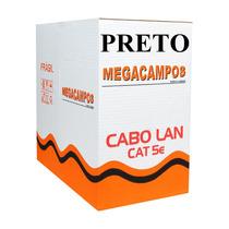 Cabo Rede Cat5e Preto 300m Cat5-e Cat-5e Utp Lan Megacampos