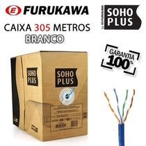 Caixa Cabo Rede Furukawa Soho Plus Cat5e 305 Metros Branco