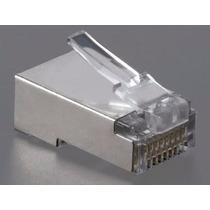 Conector Rj45 Macho Cat5 Cat6 Blindado High Quality 1 Un