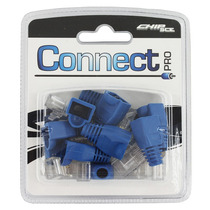 Conector Rj45 Cabo Rede Lan Plug Ethernet Com Capa Azul
