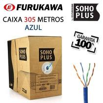 Caixa Cabo Rede Furukawa Soho Plus Cat5e 305 Metros Azul
