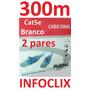 Cabo Rede Cat5e 2 Pares Branco 300m Caixa Metros Multitoc