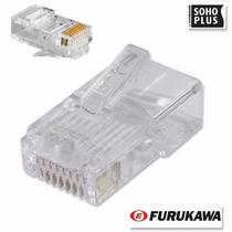 100 Peças - Conector Rj45 Original Furukawa Cat.5e Soho Plus