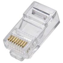 Kit Pacote 12 Conectores Rj45 Cabo Rede Lan Plug Ethernet