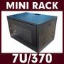 Mini Rack Parede Padrão 19 7u X 370mm Preto Top Frete Grátis