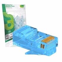 500 Unidades Conector Rj45 Gts Network Azul