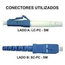 Cordão Óptico Simplex Lc-pc/sc-pc Monomodo 5 Mts