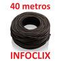Cabo Rede Cat5e Preto 40m Metros Internet Pronto Usar Uso