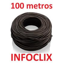 Cabo Rede Cat5e Preto 100m Metros Internet Pronto Usar Uso