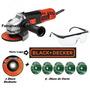 Esmerilhadeira Lixadeira 4.1/2 127v 820w Profis Black&decker