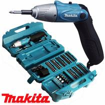 Parafusadeira Makita Dobrável Bateria 4.8v Kit 80 Peças 110v