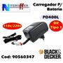 Carregador Original Parafusade Pd400l Br Tipo 1 Black&decker