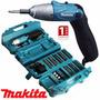 Parafusadeira Makita 6723 + Maleta + Kit 80 Acessórios Nf