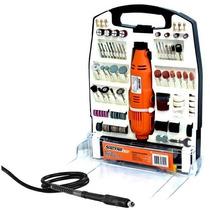 Kit Micro Retificacom Eixo Flexivel Maleta E 234pçs 110v Pro