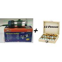 Tupia Fresa Manual 6mm 650 Watts - 220 V + Jogo De Fresas