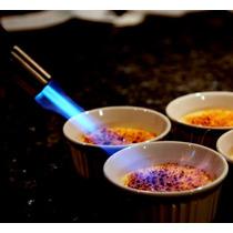 Maçarico Culinário Flambador Com 4 Latas De Gás