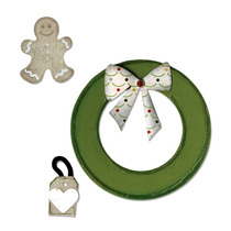 Faca De Corte Sizzix Wreath & Gingerbread Man