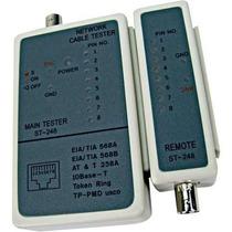 Testador Digital De Cabos Utp Coaxial 6p4c Rj-11/45/bnc