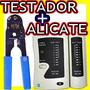 Alicate Crimpa Rj45/12/11 Multiuso + Testador De Rede