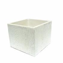 Cachepô Quadrado Vaso P/ Plantas Decoração Branco 0450039