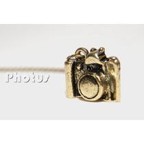 Colar Câmera Fotográfica - Cor Ouro Envelhecido