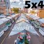 Lona 300 América Branca Impermeável P/ Barraca De Feira 5x4