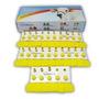 Brinco Amarelo Bovino Liso ( Sem Numeração) Caixa Com 25 Un