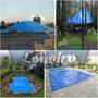 Lona Grande Azul Plástica Impermeável Evento Telhado Festa
