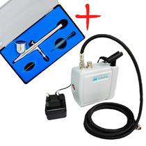 Kit Para Aerografia Completo, Micro Compressor E Aerografo