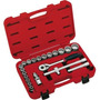 Jogo De Soquete Techdrive Multi-lock Encaixe De 1/2 10-32mm