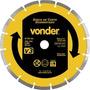 Disco Diamantado Vonder 230mm V3 Segmentado Corte A Seco