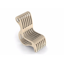 Vetores Artesanato Mdf Projeto Cadeira2 Cnc Router Artcam