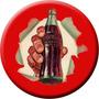Placa Decoração Concava Aço 40cm Cocacola