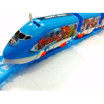 Trem Bala Elétrico Locomotiva Brinquedo Novo Trilhos + Pilha