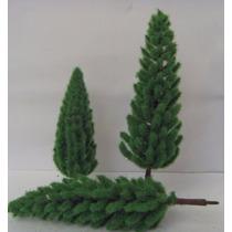25 Pinheiro Árvore Miniatura Maquete Diorama 8 Cm