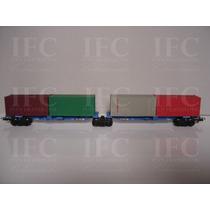 Vagão De Carga Porta Container Cvrd Cód: 2075 Frateschi Ho